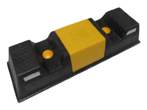 Black & Yellow Garage Car Parking Aid with Fittings - Wheel Stopper Motorhome Caravan